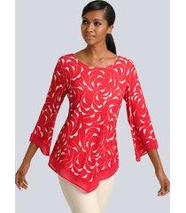 shirt alba moda koraal::wit