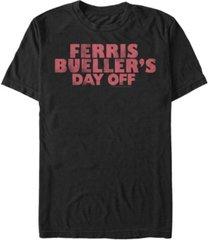 fifth sun day off men's distressed text logo short sleeve t- shirt