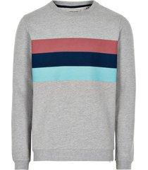 anerkjendt sweater grijs met contrast 9220705/0508