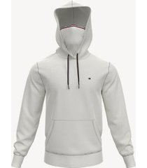 tommy hilfiger men's essential face mask hoodie snow white - xl