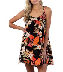 women's billabong north shore cover-up dress, size x-small - black