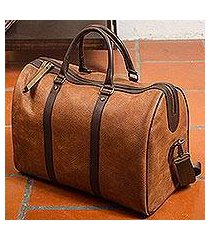 leather travel bag, 'fashionable traveler' (mexico)