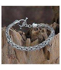 men's sterling silver bracelet, 'surf' (indonesia)