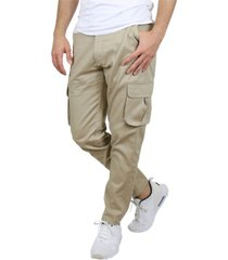 galaxy by harvic men's cotton flex stretch classic cargo pants