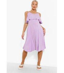 zwangerschap borstvoeding skater jurk met laagjes, lilac