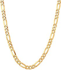 basic 18k goldplated sterling silver figaro chain necklace/22""