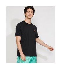 "camiseta masculina manga curta gola careca sunrise beach"" preta"""