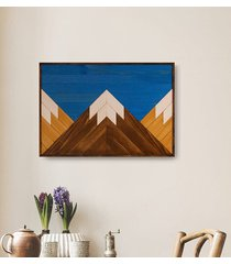 drewniany obraz mozaika - mountains