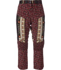 nº21 patchwork cropped trousers - red