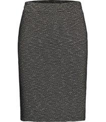 katippie skirt knälång kjol svart kaffe