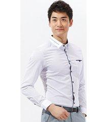 argyle print pocket long sleeve shirt