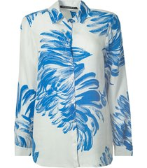 201berber blouse cupro flower