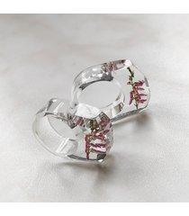 pierścionek z żywicy z wrzosem