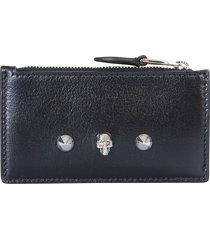 alexander mcqueen designer wallets, card holder with skull