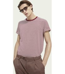scotch & soda classic crewneck cotton blend t-shirt