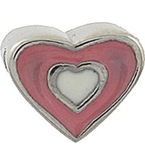 berloque narcizza semijoias infantil coração com resina aço