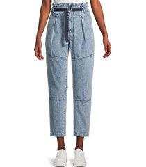 rag & bone women's belted hunter jeans - blue - size 28 (4-6)