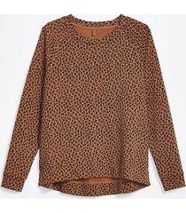 loft lou & grey leopard print terry sweatshirt