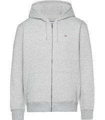 tjm regular fleece zip hoodie hoodie trui grijs tommy jeans