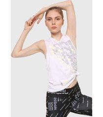 camiseta esqueleto blanco-multicolor reebok gráfico studio