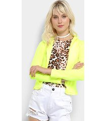 blazer flora zuu neon feminino