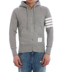 thom browne 4-bar jersey hoodie