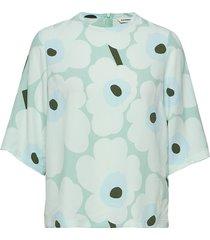 aisat unikko blouses short-sleeved groen marimekko
