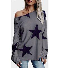 grey star one camiseta de manga larga con hombros descubiertos