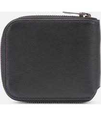 acne studios men's kei s compact zip wallet - black