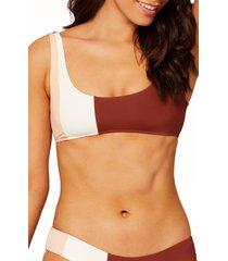 women's l space colorblock bikini top