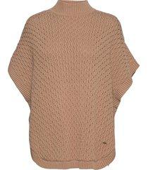 poncho hanin vests knitted vests brun lindex