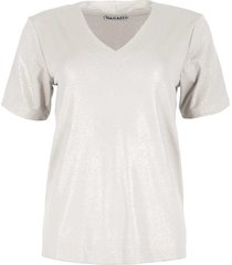 maicazz vivian t shirt fa21.75.005 off white lurex