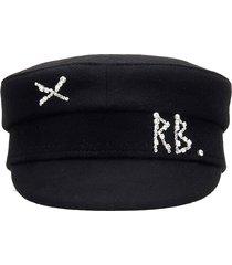 ruslan baginskiy baker boy hats in black wool