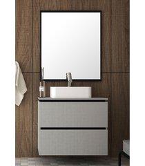 conjunto para banheiro urban argento/preto bosi - preto - dafiti