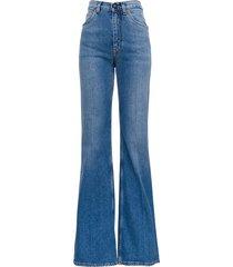 etro violet flared jeans in denim