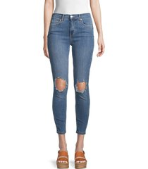 free people women's busted skinny jeans - mid stone - size 26 (2-4)