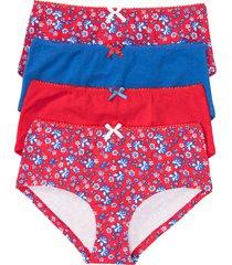 culotte a vita alta (pacco da 4) (rosso) - bpc bonprix collection