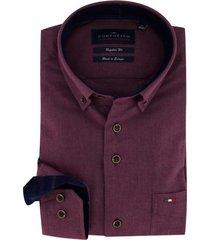 portofino overhemd bordeaux regular fit
