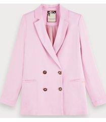 scotch & soda pink crepe blazer