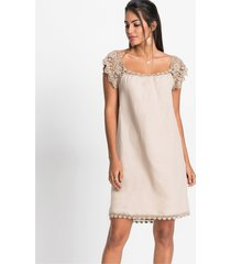 linnen jurk met kant