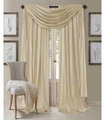 "elrene athena 52"" x 108"" window panel with scarf, set of 3"