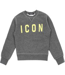 dsquared2 grey cotton sweatshirt