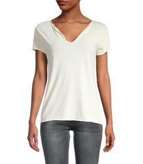 zadig & voltaire women's tunisien cotton t-shirt - chalk - size m