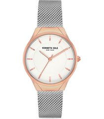 kenneth cole new york women's classic two-tone stainless steel & mesh bracelet watch