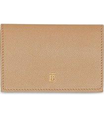 burberry small monogram-motif folding wallet - neutrals