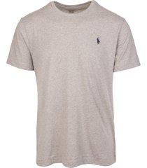 man sand jersey t-shirt with navy blue logo