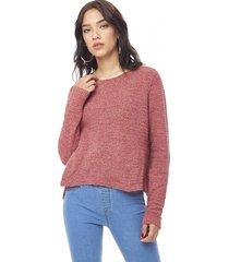 sweater chenille delgado mujer rosa corona