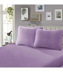 fronha para travesseiro confort lisa 1 peça rose - sbx têxtil
