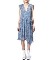 women's zadig & voltaire rozane burnout velvet dress