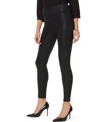 women's nydj coated ponte leggings, size large - black